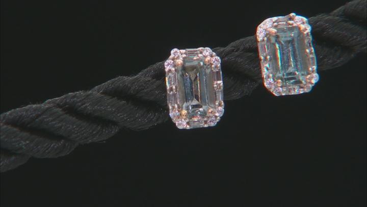 Gray Platinum Color Spinel 10k Rose Gold Stud Earrings 1.16ctw