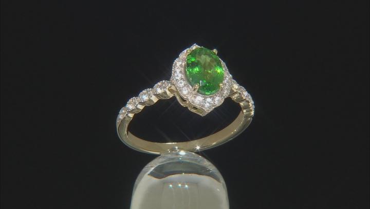 Green Tsavorite 10k Yellow Gold Ring 1.24ctw