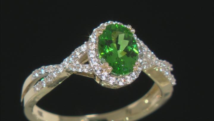 Green Tsavorite 10k Yellow Gold Ring 1.06ctw