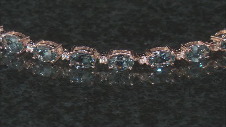 Platinum Color Spinel 10k Rose Gold Bracelet 7.00ctw