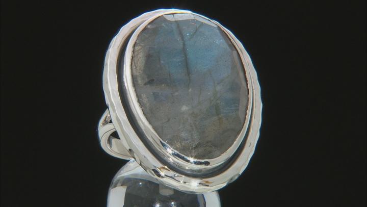 Gray Labradorite Sterling Silver Ring 21.00ct
