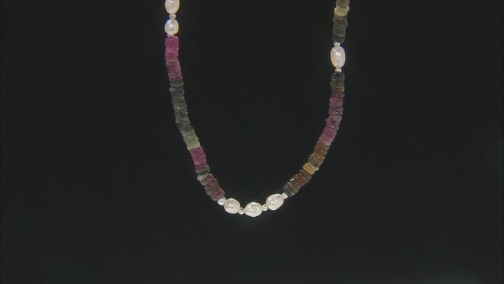 Multi-color Tourmaline Sterling Silver Necklace