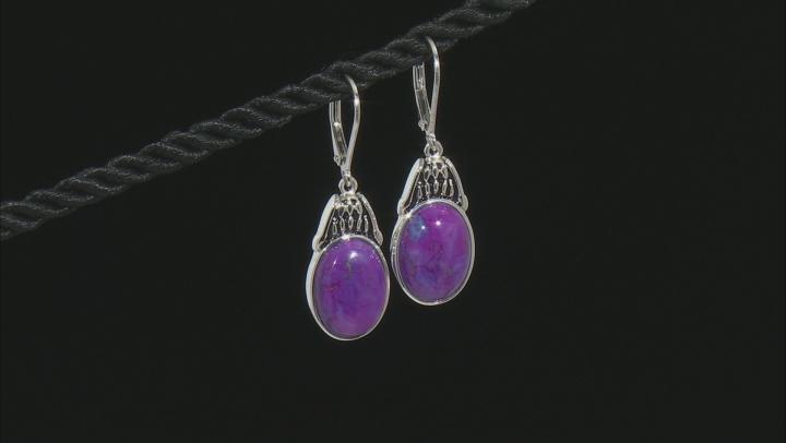 Purple Turquoise Sterling Silver Earrings