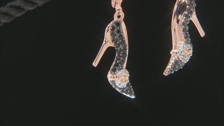 Black Spinel 18K Rose Gold Over Sterling Silver High Heel Earrings 0.87ctw