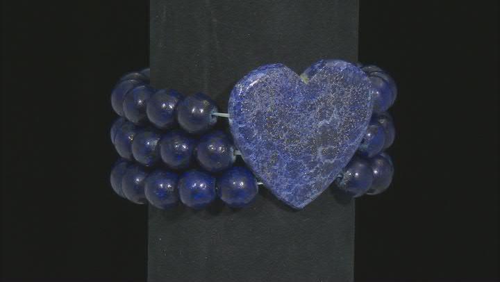 Blue Lapis Lazuli 3-Row Stretch Bracelet