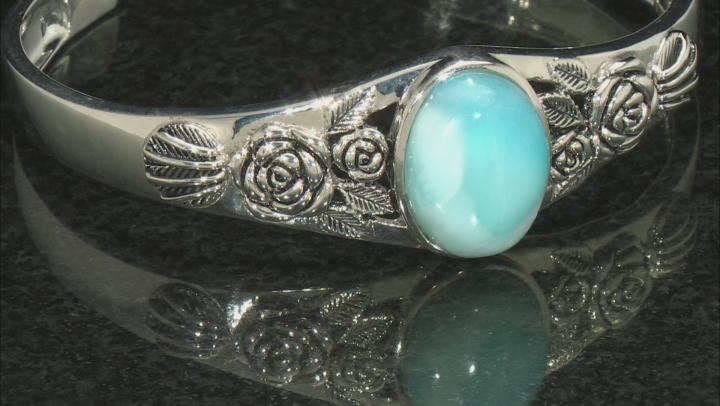 Blue Larimar Sterling Silver Cuff Bracelet