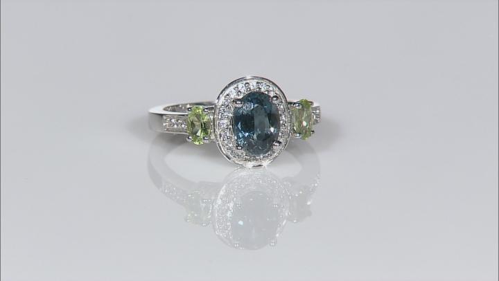 Teal Chromium Kyanite Sterling Silver Ring 1.90ctw