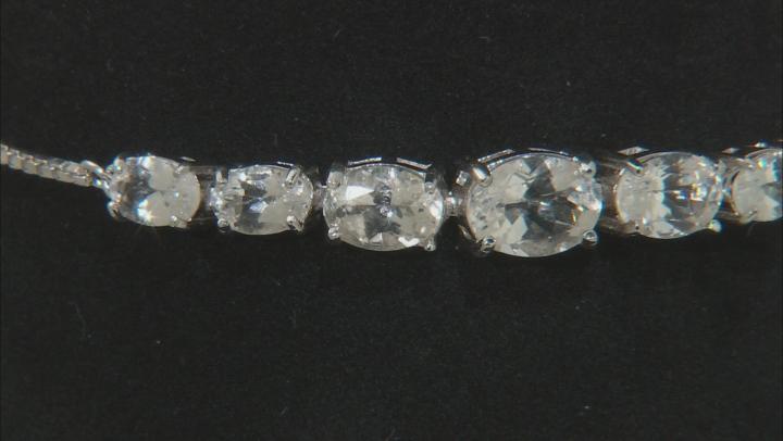 White Goshenite Sterling Silver Sliding Adjustable Bracelet 3.46ctw