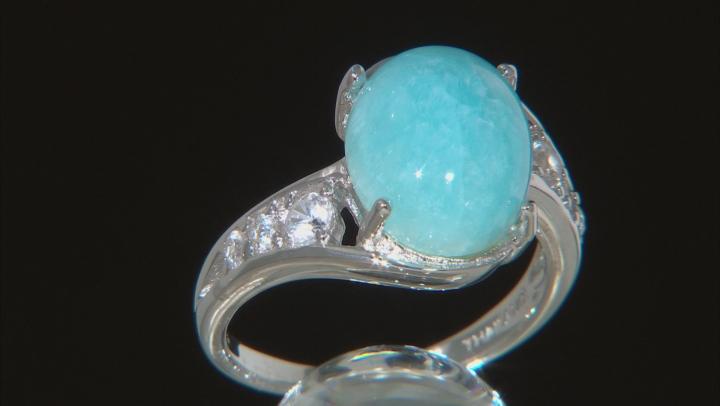 Blue Peruvian Hemimorphite Sterling Silver Ring .49ctw