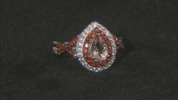 Pink Morganite Sterling Silver Ring 1.69ctw