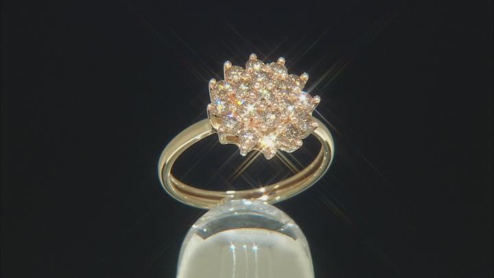 Champagne Diamond 1.00ctw Round 10k Yellow Gold Ring