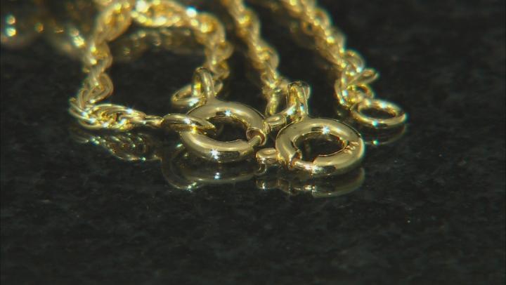 Sliding Adjustable Bracelet Clasps in 18K Gold Over Sterling Silver Rope Chain 2 Piece Set