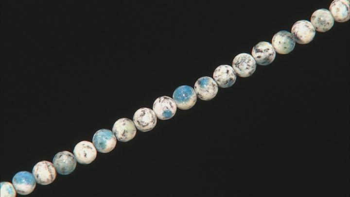 Azurite in Granite Appx 6mm Round Bead Strand Appx 15-16
