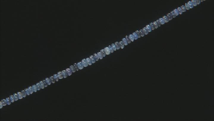 "Burmese Blue Sapphire Rondelle appx 2-3.5mm Rondelle Bead Strand appx 18"""