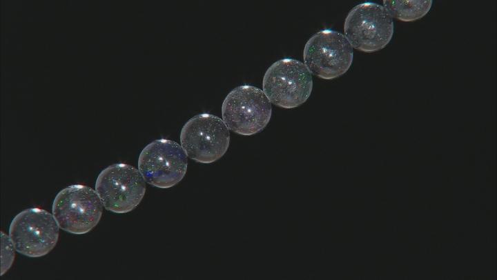 Honduran Black Opal appx 8mm Round bead strand appx 15-16