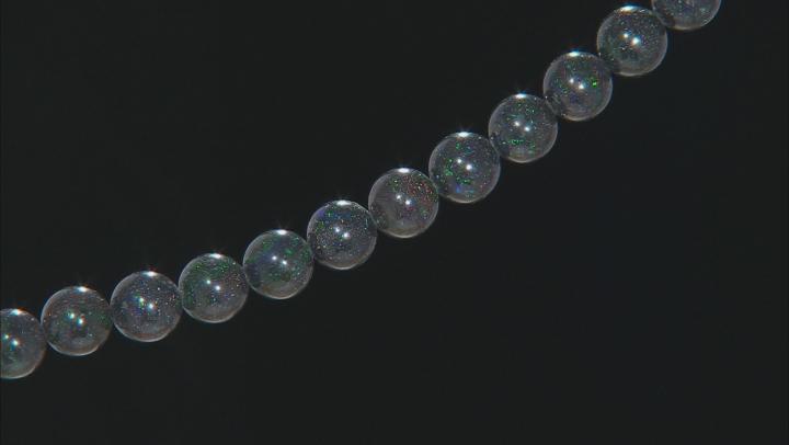 "Black Honduran Opal appx 12.5-13mm Round bead strand appx 15-16"" length"