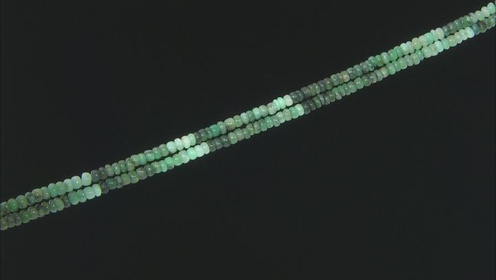 Sakota Emerald Appx 4mm Rondelle Bead Strand Appx 15-16