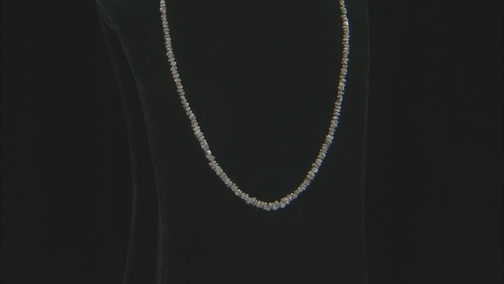 "Diamond Uncut Bead Strand in Grey appx 15-16"" in length"