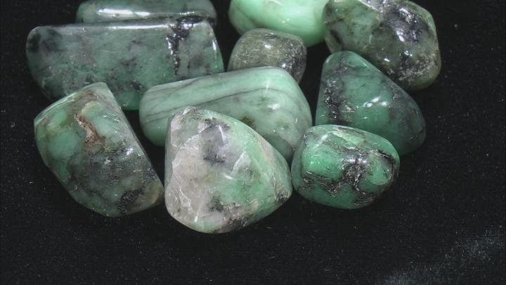 Emerald 1/4lb Tumbled Loose Bead Parcel