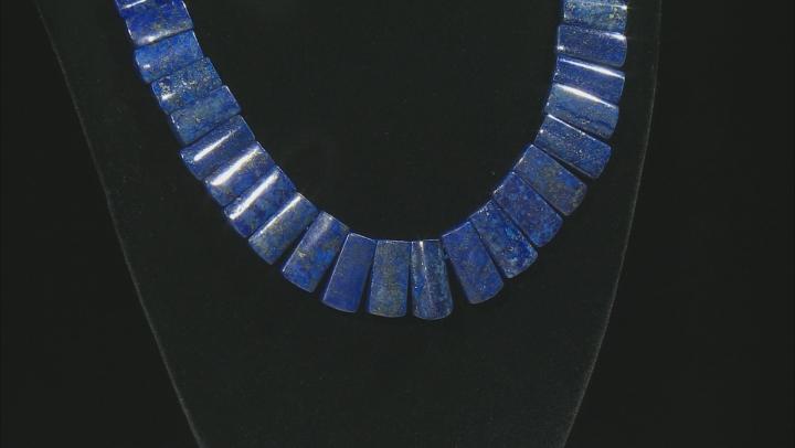 "Lapis Lazuli Graduated appx 12x9mm-22x11mm Collar Bead Strand Appx 17"""