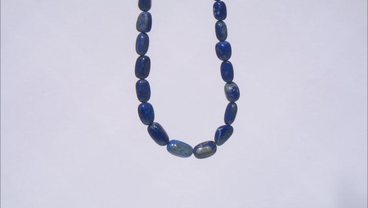 "Lapis Lazuli Graduated Tumble Shape Bead Strand appx 15-16"""