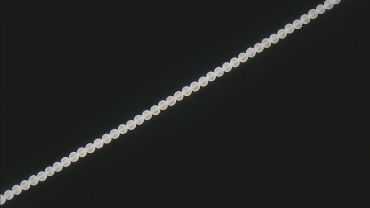 "Matte Crystal Quartz appx 5mm Round Bead Strand appx 15-16"""
