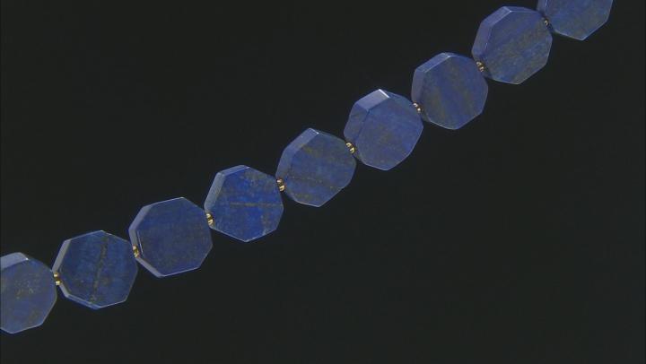 "Lapis Lazuli Hexagon appx 19-21mm Shape Bead Strand appx 15-16"""
