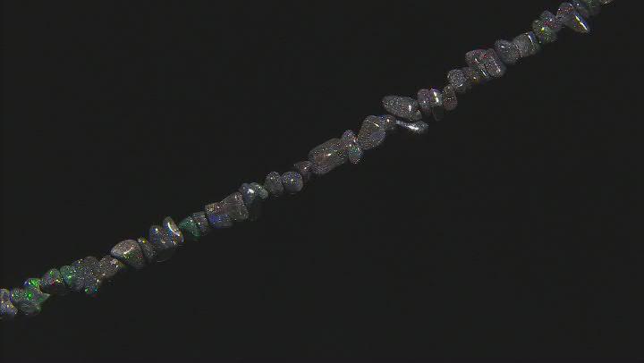 "Black Honduran Opal Free-Form Nugget appx 6-11mm Bead Strand appx 18"""