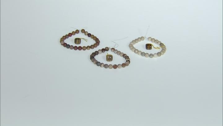 Dakota Stones™ Mala Neutral Boho Stack Bead Set incl 3 Bead Strands And 3 Mala Beads