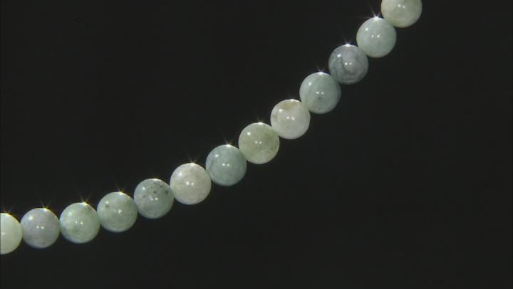 Jadeite appx 10mm Round Bead Strand Appx 15-16