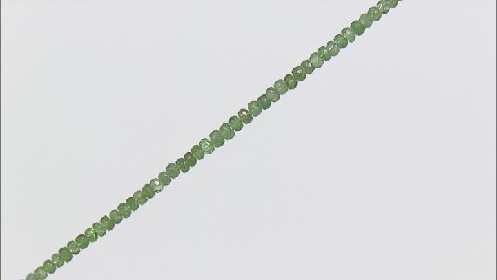 Tsavorite Garnet 3-4mm Faceted Rondelle Bead Strand Appx 18