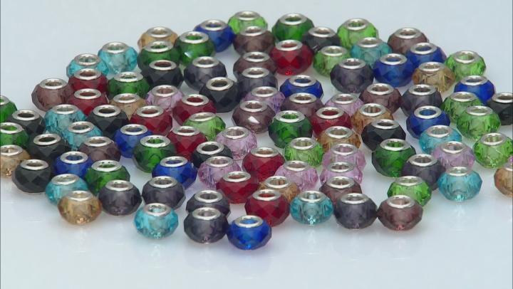 Multicolor Glass Bead Bag Appx 50 Pieces