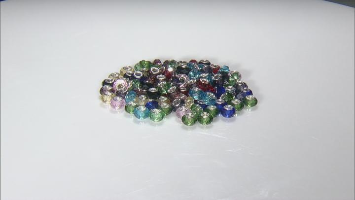 Multicolor Glass Bead Bag Appx 100 Pieces