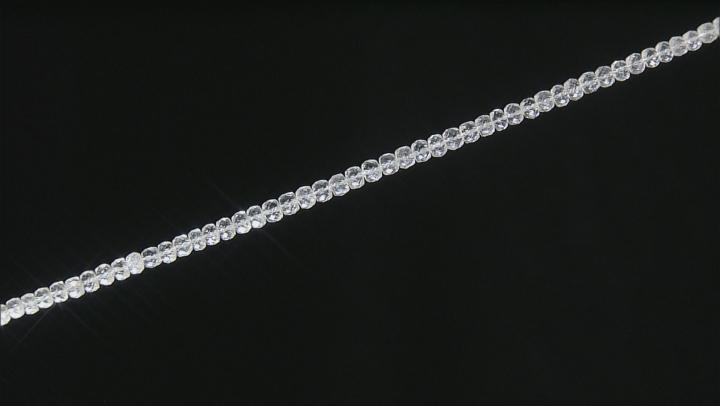 "Arkansas Quartz Appx 3-6mm Graduated Faceted Rondelle Bead Strand Appx 16"" Length"
