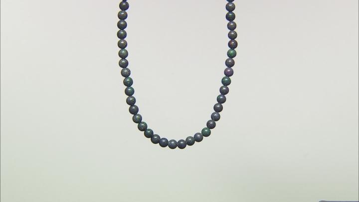 Black Honduran Opal appx 7.75mm Round bead strand appx 137 ctw