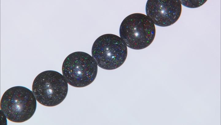 Black Honduran Opal appx 10-10.5mm Round bead strand appx. 225ctw