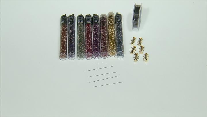 Beadweaving Two-Hole Herringbone Kit in Halo Shimmer