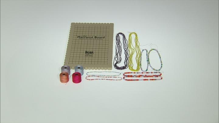 Macrame Supply Kit in Lavender Garden & Melonberry