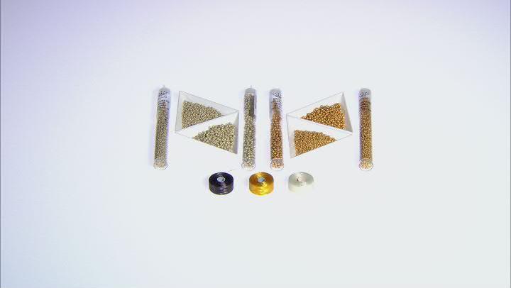 Loom bead basics bracelet supply kit in magic matte metallics