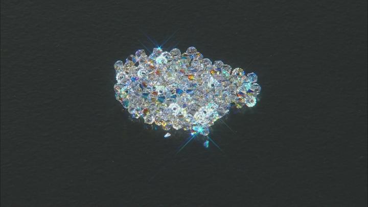 2.5mm Swarovski® Bicones in Crystal AB Color Appx 144 Piece Bag