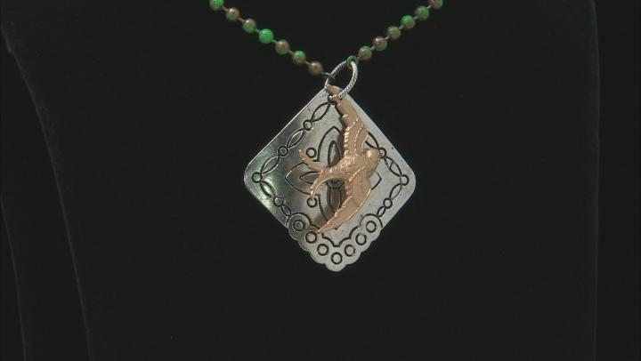 Vintaj Celtic Sparrow Focal in Antiqued Silver & Gold Tones Designed by Candie Cooper