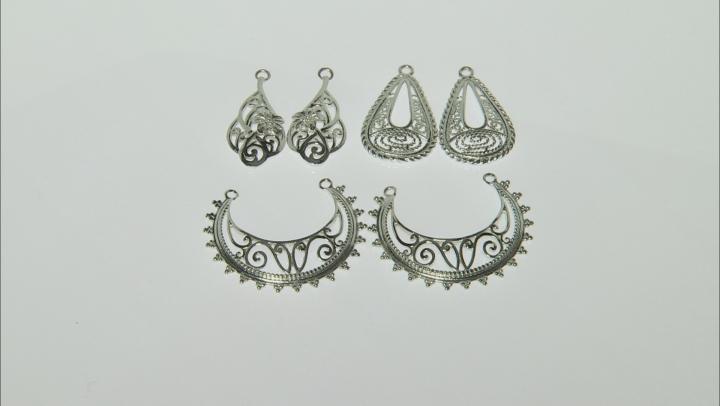 Earring Findings Set of 3 in Silver Tone