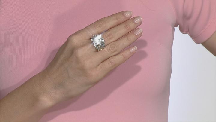 Diamond 4.05ctw Princess Cut & Round & Baguette 14k Yellow Gold Ring