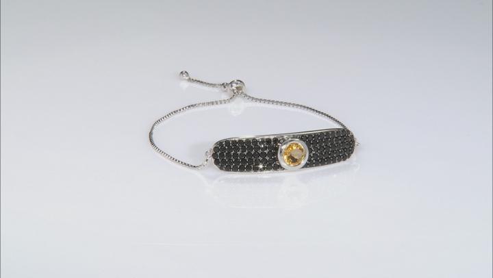 Golden citrine rhodium over silver bolo bracelet 5.07ctw