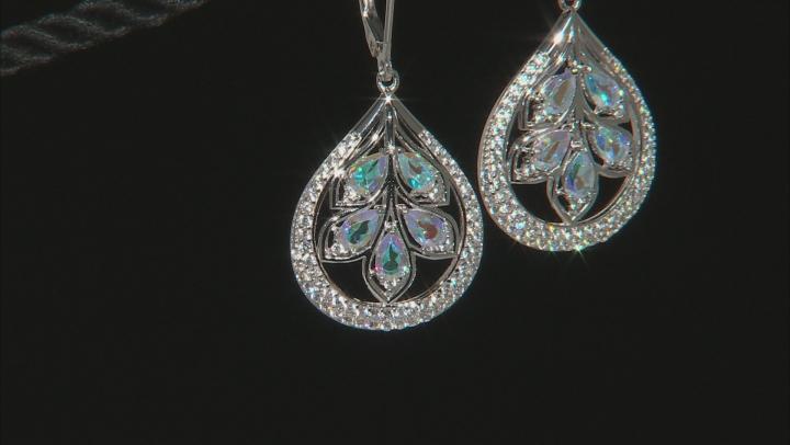Multi-Color Mercury Mist® Topaz Rhodium Over Sterling Silver Earrings 3.65ctw
