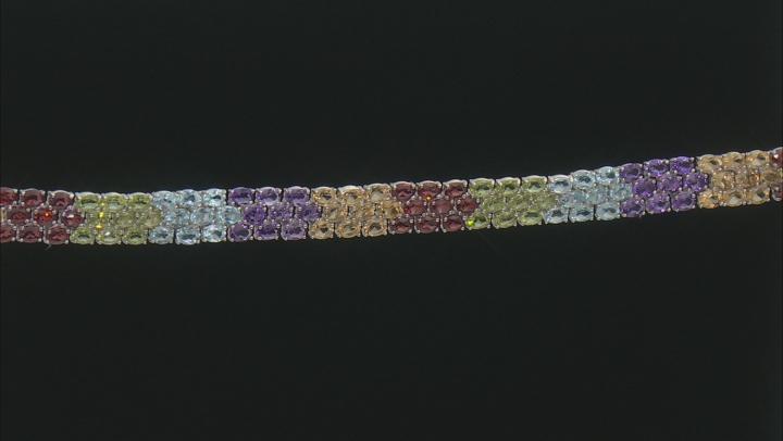 Multi Stone Rhodium Over Sterling Silver Bracelet 18.13 ctw