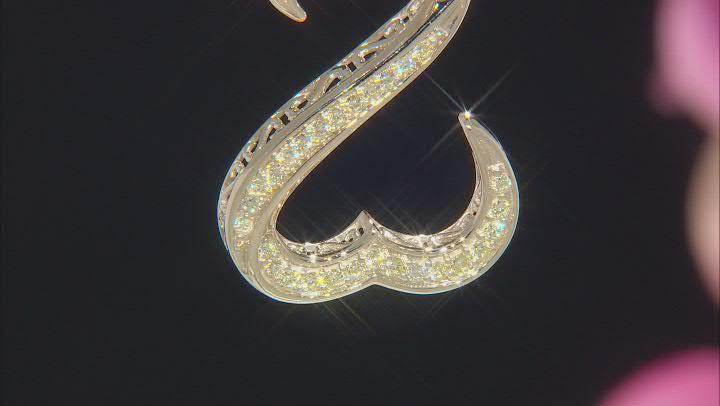 Natural Yellow Diamond 10k Yellow Gold Pendant 0.80ctw