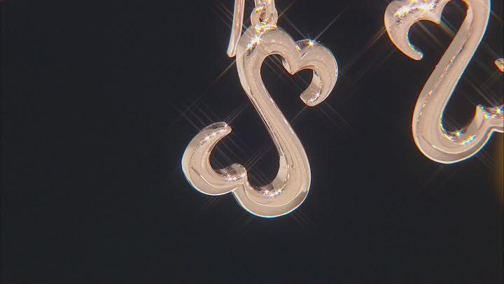 14k Rose Gold Over Sterling Silver Dangle Earrings