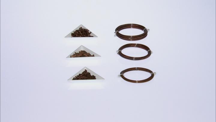 Artistic Wire and Crimp connectors Kit in Antique Copper Color Includes 12, 14, 16 Gauges