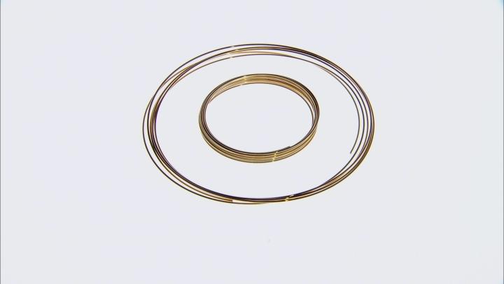 Memory Wire X-Heavy Duty appx 1mm Large Round Bracelet Set of 12 in 3 Tones 0.50oz each